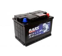 Аккумулятор BARS Silver (Gold) 6СТ-75 (77) П/П (650А (EN)) ХИТ ПРОДАЖ!