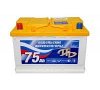 Аккумулятор 6СТ-75Aч (Подольск) П/П (550А (EN)) ХИТ ПРОДАЖ!