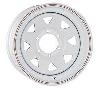 Диск колеса 8.0J15 (6*139.7/110) ЕТ19 'R-STEEL' White А17 Распродажа!